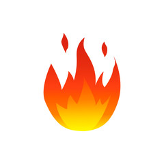 Flame fire symbol. Colorful Vector illustration.