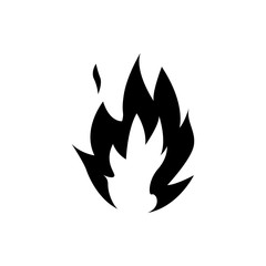 Flame fire pictogram. Silhouette Vector illustration.