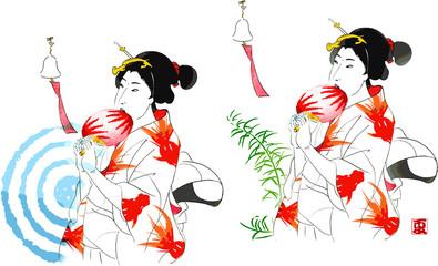 夏の婦人ー江戸