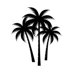 A palm tree silhouette set.
