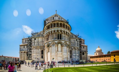 Basilica and baptistery in Pisa