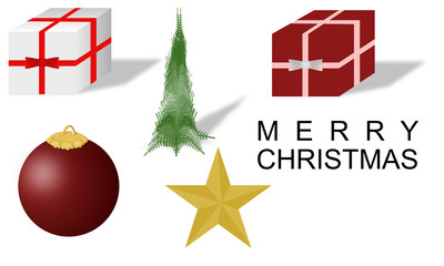 Christmas icons and symbols