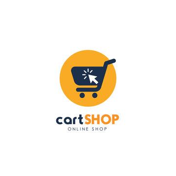shopping cart logo design. cart icon design
