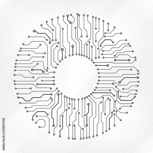 u0026quot circuit board technology information pattern concept vector background  grayscale color