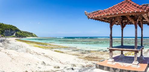Traditional hut on balinese beach