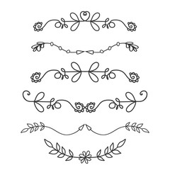 Doodle floral hand drawn dividers
