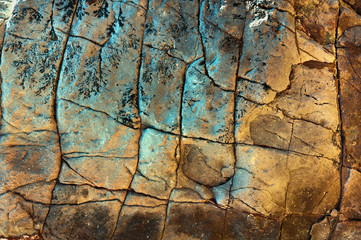 фон, текстура  скальной породы.  красочные узоры на скальных камнях