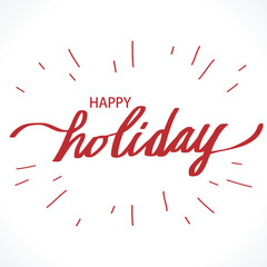 Happy Holiday illustration vector