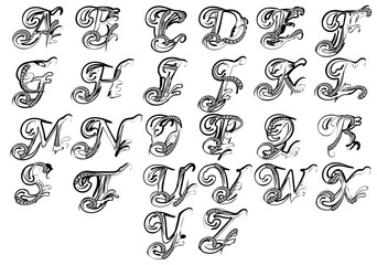 letters for monogram and initials