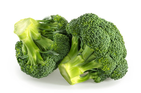 Broccoli isolated white background