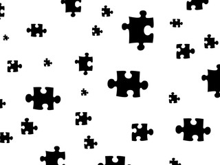 White background and puzzles