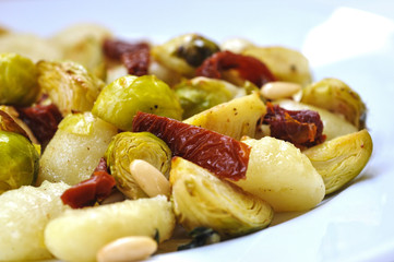 Brussels Sprouts with sun dried tomato