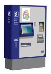 Swiss transportation ticket machine