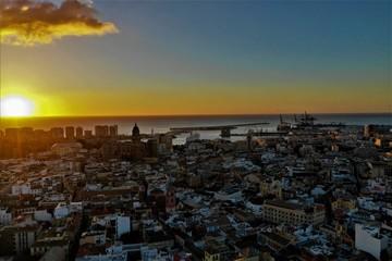 Malaga aus der Luft
