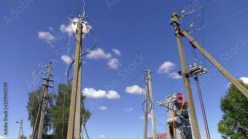 Remont power transformer  Maintenance of overhead power lines