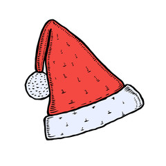 Santa Claus hat illustration