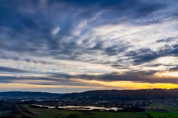 Twilight Above the Lake