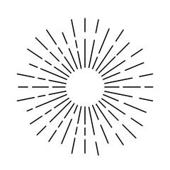 Light rays vector icon