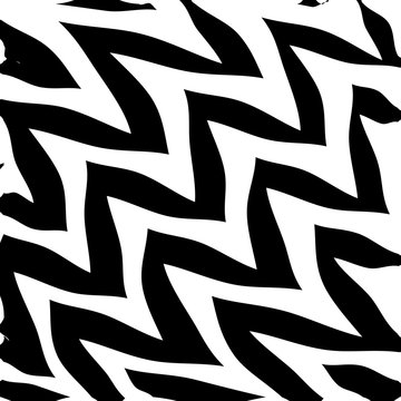 Geometric Simple Zigzag Print, Wave Pattern