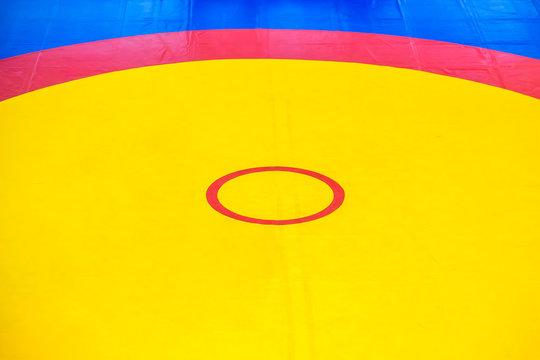 Background Wrestling Mat. Tatami carpet Greco-Roman ring