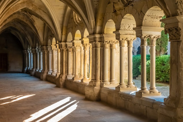 The Monastery of Santa Maria de Vallbona (Vallbona de les Monges), the only female monastery of the cistercian route in Catalonia preserving the monastic life since the XII. century. Catalonia, Spain Wall mural