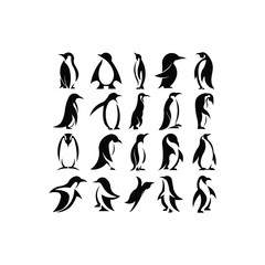 set of Penguin icon. Penguin symbol design from Animals collection.logo inspiration