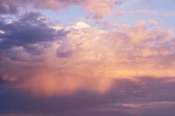 Rain through sunset