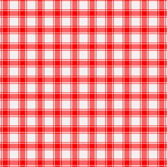 Red white tablecloth diagonal lines
