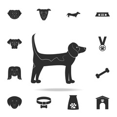 Labrador Retriever icon. Detailed set of dog silhouette icons. Premium graphic design. One of the collection icons for websites, web design, mobile app