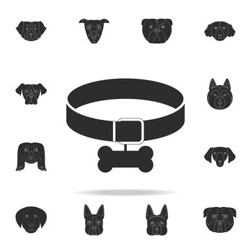 dog collar icon. Detailed set of dog silhouette icons. Premium graphic design. One of the collection icons for websites, web design, mobile app