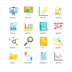 Simple Set of 16 Vector Icon. Contains such Icons as Analytics, undefined, Analytics. Editable Stroke pixel perfect