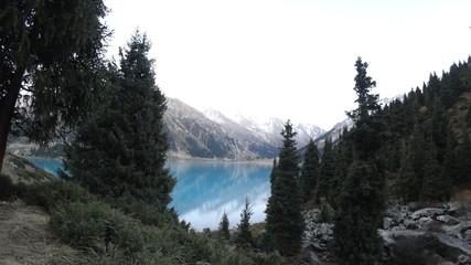 Kazakhstan big Almaty lake