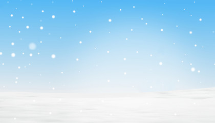 winter snowflakes background 3d illustration