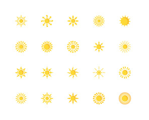 Set Of 20 icons such as sun, icon pack