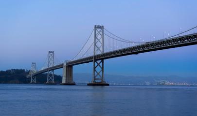 San Francisco – Oakland Bay Bridge at twilight in San Francisco,USA