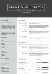 CV / resume template - elegant stylish design vector