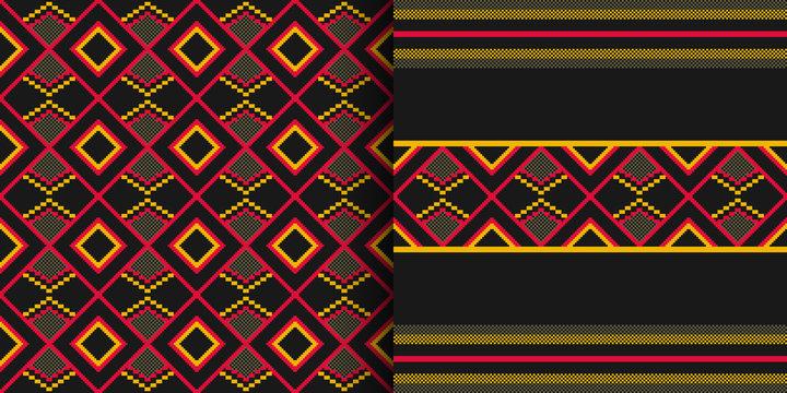 Ethnic seamless pattern. Cloth Kente. Tribal print.