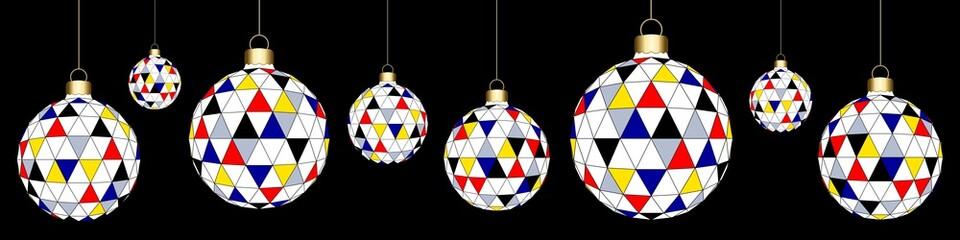 Banner. Christmas' balls