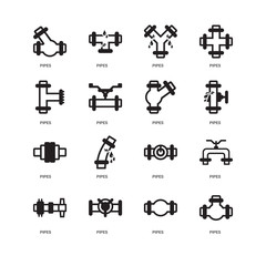 Simple Set of 16 Vector Icon. Contains such Icons as Pipes, undefined, undefined. Editable Stroke pixel perfect