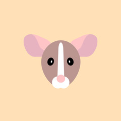 muzzle rat simple icon