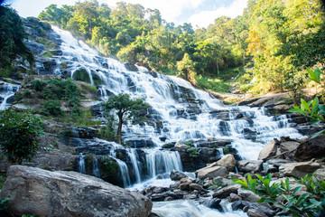 Mae Ya waterfall, Big waterfall at Chiangmai, Northern, Thailand