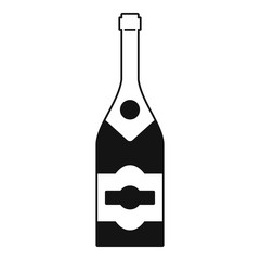 Classic champagne icon. Simple illustration of classic champagne vector icon for web design isolated on white background