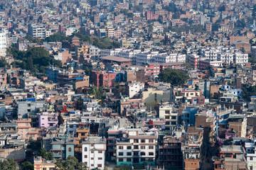 aerial view of city kathmandu