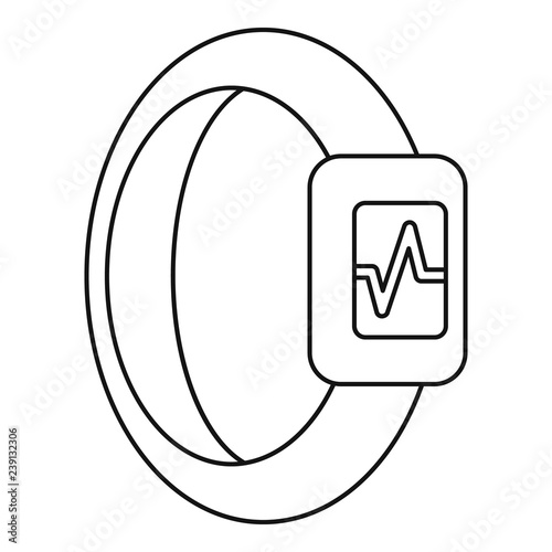 Wristband Heart Beat Icon Simple Illustration Of Wristband Heart