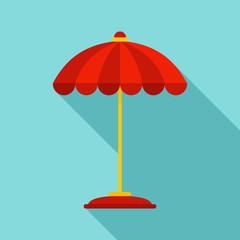 Pool umbrella icon. Flat illustration of pool umbrella vector icon for web design