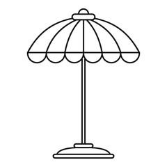 Pool umbrella icon. Outline pool umbrella vector icon for web design isolated on white background