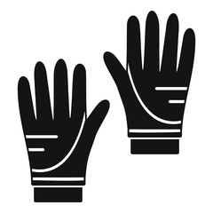 Diving gloves icon. Simple illustration of diving gloves vector icon for web design isolated on white background