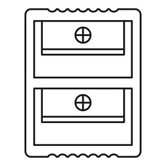 Double sharpener icon. Outline double sharpener vector icon for web design isolated on white background
