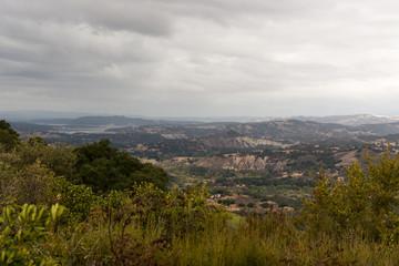Vista Point Over Santa Ynez Valley, California, USA.