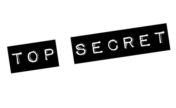 top secret stamp on white